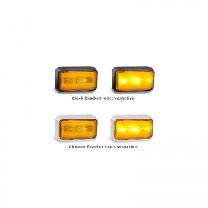 LED AUTOLAMPS 58 SERIES 12-24V SIDE INDICATOR - RED