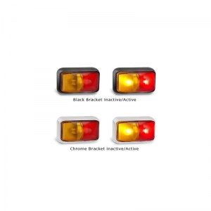 LED AUTOLAMPS 58 SERIES 12-24V RED/AMBER SIDE MARKER LAMP