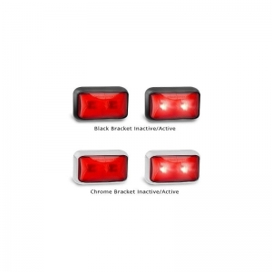 LED AUTOLAMPS 58 SERIES 12-24V REAR RED MARKER - BLACK