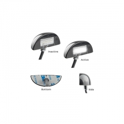 LED AUTOLAMPS 60 SERIES 12-24V LED LICENCE PLATE LAMP - TWIN PACK