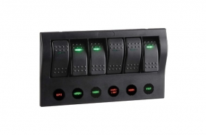 NARVA 6-WAY LED SWICH PANEL WITH CIRCUIT BREAKER PROTECTION
