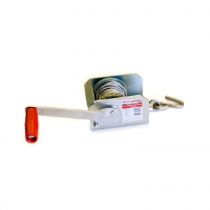 AL-KO ZINC PLATED WINCH 1:1 FIXED RATIO 250KG 4MM STEEL CABLE WITH S HOOK