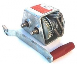 AL-KO MARINE WINCH GALVANISED 1:1/3:1 500KG 4MM CABLE WITH S HOOK