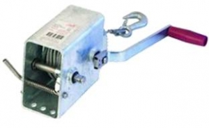 AL-KO MARINE WINCH GALVANISED 700KG 5:1/1:1 5MM CABLE WITH SNAP HOOK