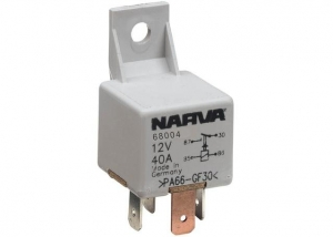NARVA 12V 40A NORMALLY OPEN 4 PIN RELAY WITH RESISTOR