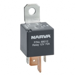 NARVA 12V 70A NORMALLY OPEN 4 PIN RELAY WITH RESISTOR