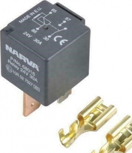 NARVA 24V 30A NORMALLY OPEN 4 PIN RELAY WITH RESISTOR