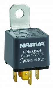 NARVA 12V 40A NORMALLY OPEN 5 PIN RELAY WITH RESISTOR