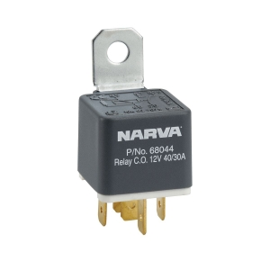 NARVA 12V 40/30A CHANGE OVER 5 PIN RELAY WITH RESISTOR