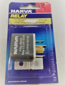 NARVA 24V 30/20A  CHANGE OVER 5 PIN RELAY WITH DIODE