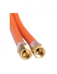 """BROMIC 6MM GAS HOSE PVC 5/16"""" SAE FEMALE FLARE TO 3/8 BSP MALE 1200MM"""
