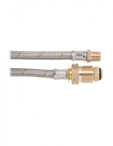 BROMIC 6MM STAINLESS PIGTAIL 1/4 NTP X POL 450MM
