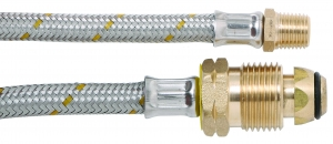 """BROMIC 6MM S/STEEL PIGTAIL 7/16"""" I/FLARE 1000MM"""