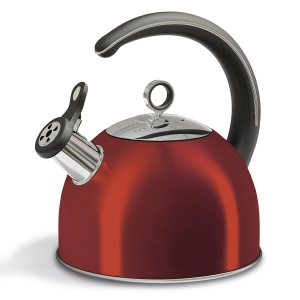 CAMPFIRE WHISTLING KETTLE 2.5L-  RED