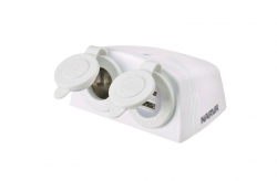 ACC/DUAL USB TWIN SOCKET SURFACE MOUNT WHITE
