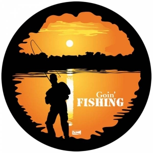 BUSHRANGER SPARE WHEEL COVER GOIN' FISHING STYLE SMALL 650 - 710MM