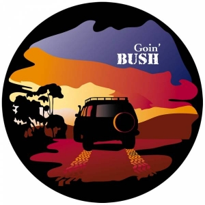 BUSHRANGER SPARE WHEEL COVER GOIN' BUSH STYLE SMALL 650 - 710MM