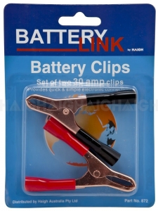 BATTERY LINK BATTERY CLAMPS 30A INSULATED 2 PACK