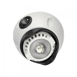 NARVA 10-30V 1W LED INTERIOR SWIVEL LAMP WITH OFF/ON SWITCH - WHITE