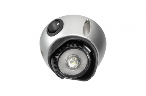 NARVA 10-30V 1W LED INTERIOR SWIVEL LAMP WITH OFF/ON SWITCH - SILVER