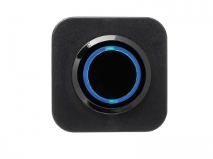 CONXUS FLUSHMOUNT SINGLE ON/OFF SWITCH WITH LED - BLACK