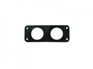 CONXUS FLUSH MOUNT PLATE 2 WAY - BLACK