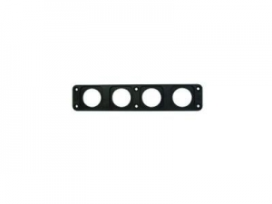 CONXUS FLUSH MOUNT PLATE 4 WAY - BLACK