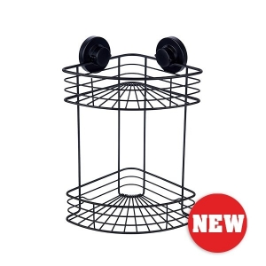 INSTALOC BLACK 2 TIER CORNER BASKET