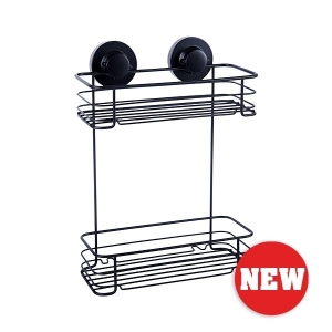 INSTALOC BLACK 2 TIER RECTGULAR BASKET