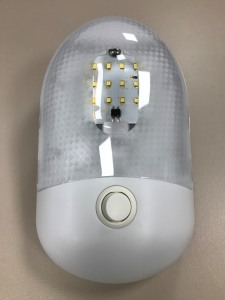 INTERIOR LAMP 12V 18 LED WITH SWITCH - WHITE