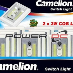 CAMELION PORTABLE SWITCH LIGHT 2 X 3W COB LED WITH WALL MOUNT
