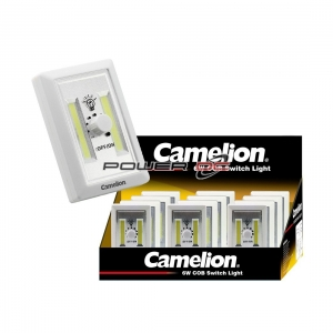 CAMELION 2 x 3W COB LED PORTABLE SWITCH LIGHT WITH WALL MOUNT & DIMMER