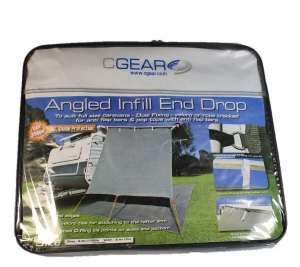 CGEAR ANGLED INFILL END DROP 2.3 X 2.1M GREY