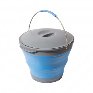 POPUP BUCKET 10L BLUE WITH LID