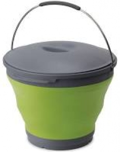 POPUP BUCKET 10L GREEN WITH LID