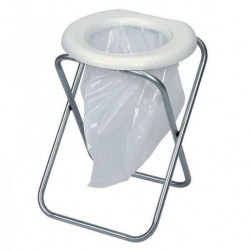 COMPANION PORTABLE TOILET WITH FOLDING FRAME WITH 6 BAGS