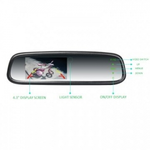 "CARVISION 4.3"" AUTO BRIGHTNESS REPLACEMENT MIRROR"