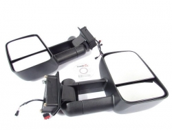 CLEARVIEW TOWING MIRRORS MITSUBISHI TRITON/CHALLENGER BLK ELEC 2005 TO 2015