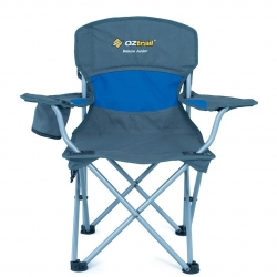 OZTRAIL DELUXE JUNIOR CHAIR BLUE