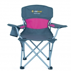 OZTRAIL DELUXE JUNIOR CHAIR PINK