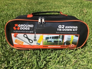 GROUND DOG G2 AWNING TIE DOWN KIT T/S FIAMMA & THULE AWNINGS