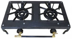 CAMPFIRE TWO BURNER CAST IRON COOKER