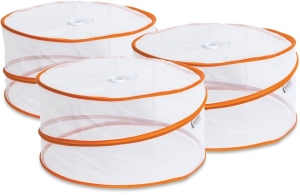 COLLAPSIBLE COMPACT FOOD COVERS 3PK