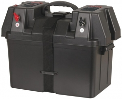 POWERTECH BATTERY BOX WITH VOLTMETER AND USB CHARGE