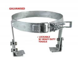 JAGSINGH 4.5KG ADJUSTABLE GALVANISED GAS BOTTLE HOLDER