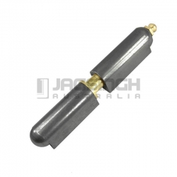 HINGE STEEL WELD 16 X 100MM GREASEABLE WITH BRASS PIN & WASHER