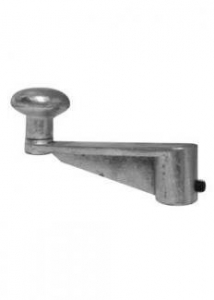 MANUTEC HEAVY DUTY JOCKEY WHEEL HANDLE WITH ROLL PIN - STANDARD LENGTH