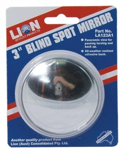 LION BLIND SPOT ROUND MIRROR 75MM/3""