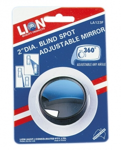 LION BLIND SPOT ROUND MIRROR 50MM - ADJUSTABLE