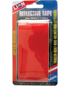 LION REFLECTIVE TAPE RED 50MM X 1M